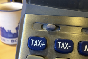 Tax buttons on calculator