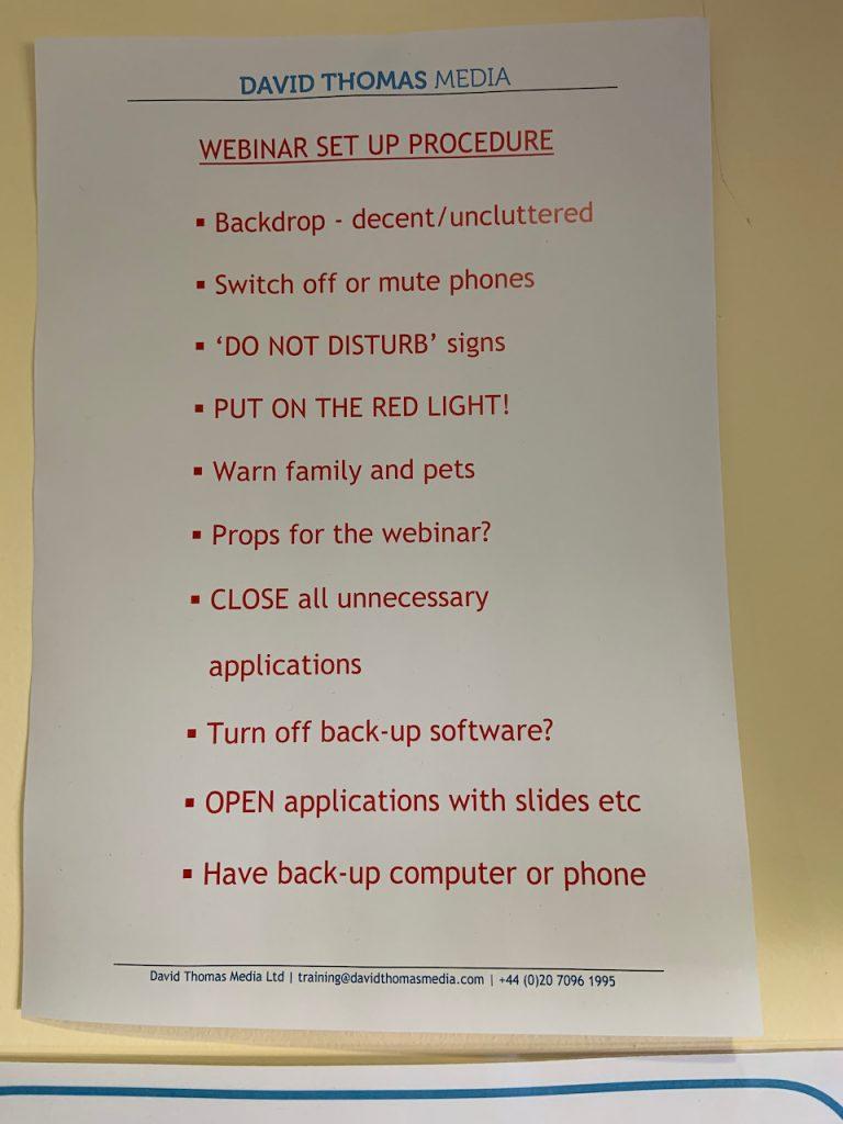 Download webinar checklist