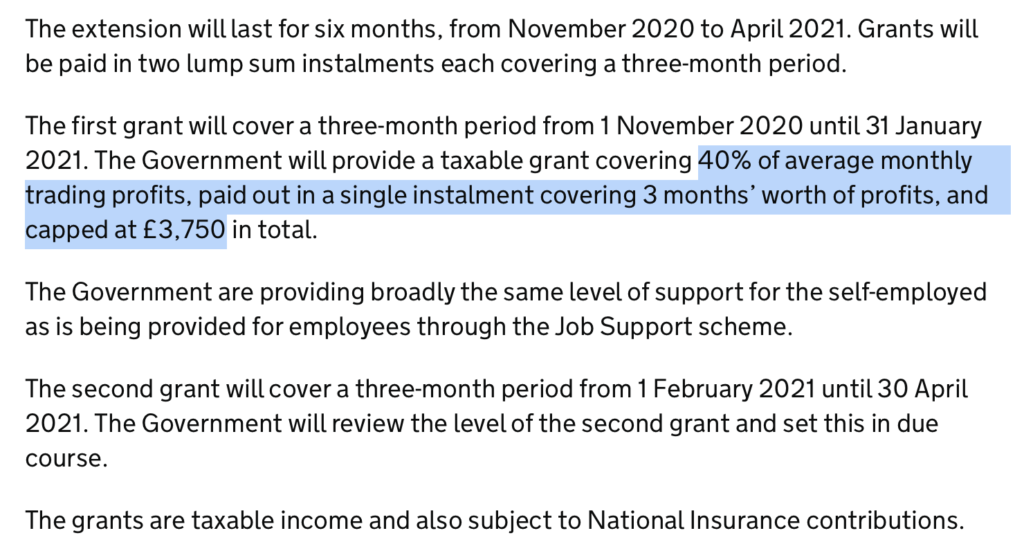 Extract from gov.uk